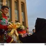 «پویا دادمرز» قهرمان مسابقات کشتی فرنگی آذربایجان شد