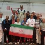 قهرمان ایران با لباس بختیاری روی سکوی قهرمانی رفت+عکس