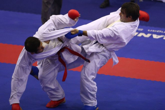 آغاز مسابقات کشوری کاراته بخش آقایان در ایذه
