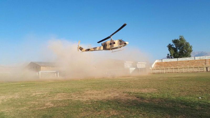 اعزام زن 40 ساله ایذهای به اهواز به وسیله اورژانس هوایی