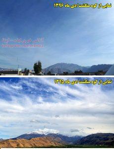 افت شدید برف کوه منگشت در بررسی دو سال اخیر