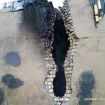 تخریب یک منزل مسکونی در سراک به دلیل برخورد صاعقه
