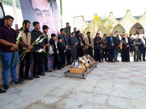 مراسم تشیع و خاکسپاری پیگر مرحوم کیانوش عالی محمودی با حضور پرشور مردم شهرستان ایذه انجام شد
