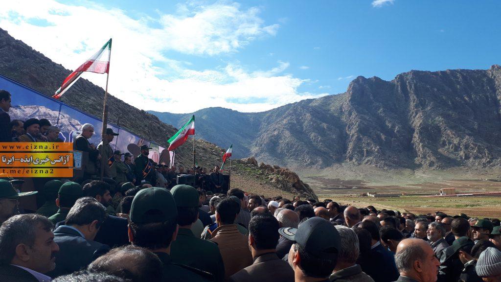 برگزاری مراسم تشیع و خاکسپاری سردار قدرت الله منصوری در ایذه