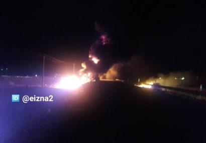انفجار تانکر حمل سوخت در دهدز جان ۲ نفر را گرفت