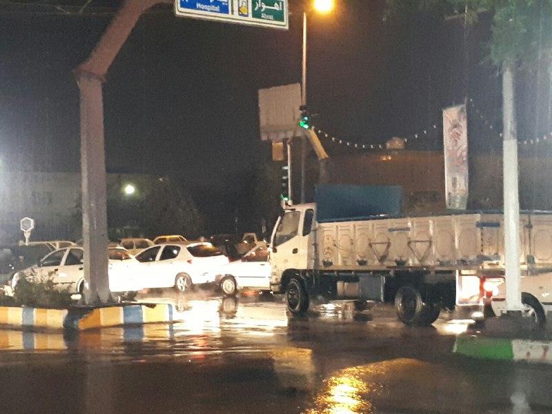 ترافیک سنگین خیابانها حاصل روز بارانی ایذه/ادامه بارندگی تا اواخر وقت فردا